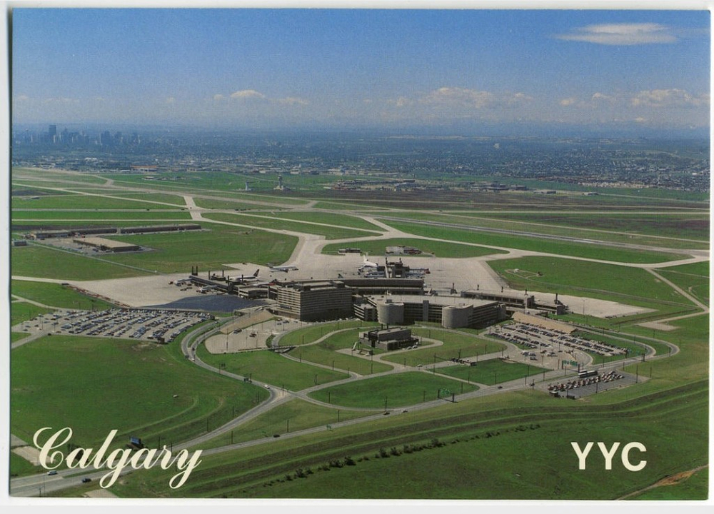 Calgary International airport in the late '70s.