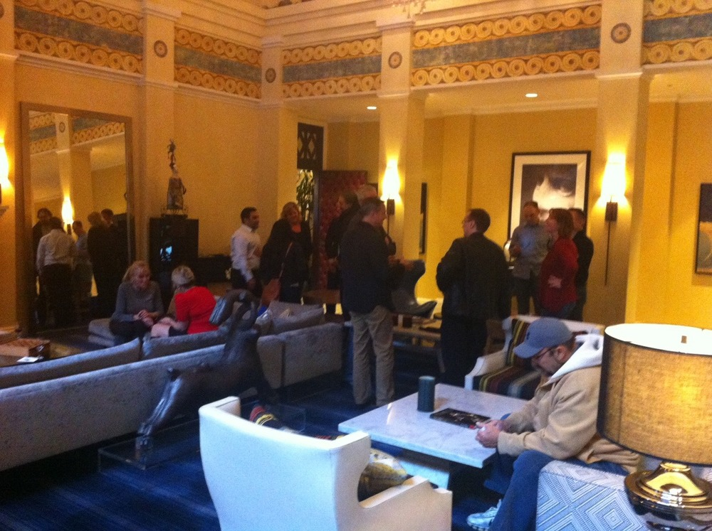 Happy Hour at Kimpton's Hotel Monaco is a lively time where guests mix and mingle. We met and chatted with a lovely couple from Chicago and shared some Seattle tips, as well as our thoughts about Chicago and Calgary.