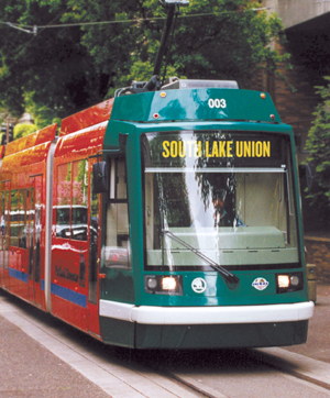 South Lake Union Trolley is part of a diverse transit system that includes streetcars, buses, LRT and a monorail.