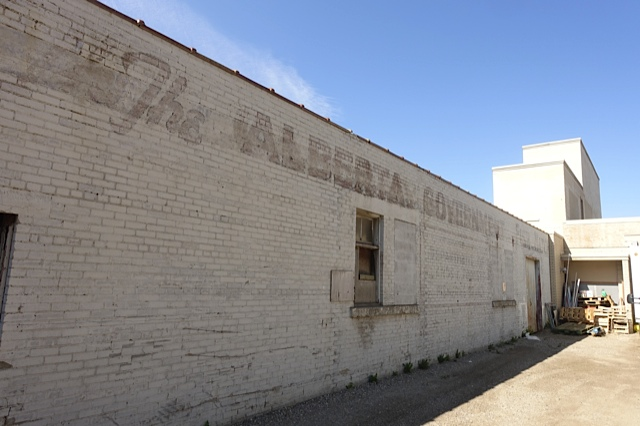 "I am a sucker for ""ghost signs"" like this one for the The Alberta Government Fish Hatchery. Not sure how you save this wall and incorporate it into a new building/new use! I am told that it could become part of a sunny historic plaza that would document the full history of the site."