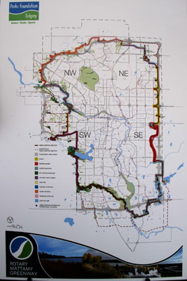 Map of the Rotary Mattamy Greenway.