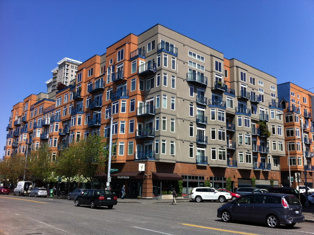 Mid-rise condo in Seattle's Belltown, would look right at home in Calgary's Mission District.