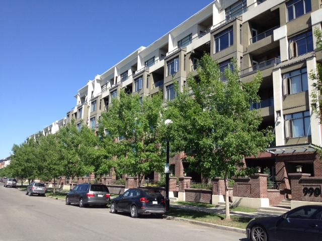 Block of new condos in Calgary's popularBridgeland neighbourhood.