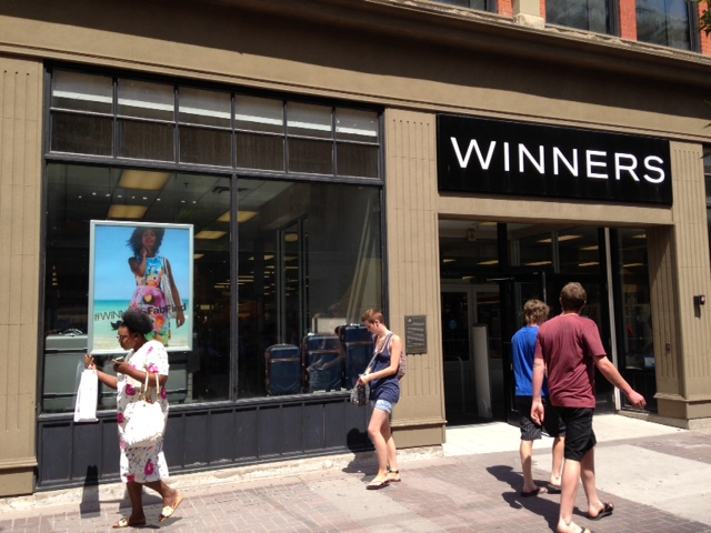 Looks like just another Saturday at Winners on Stephen Avenue Walk.