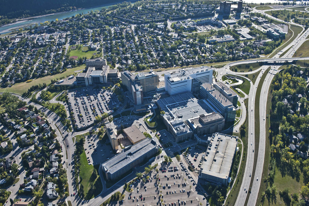 Foothill Medical Centre (photo credit: Peak Aerials)