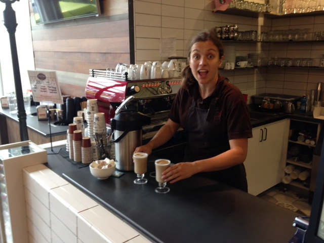 This employee was very excited I was taking her picture. Gotta love the enthusiasm.
