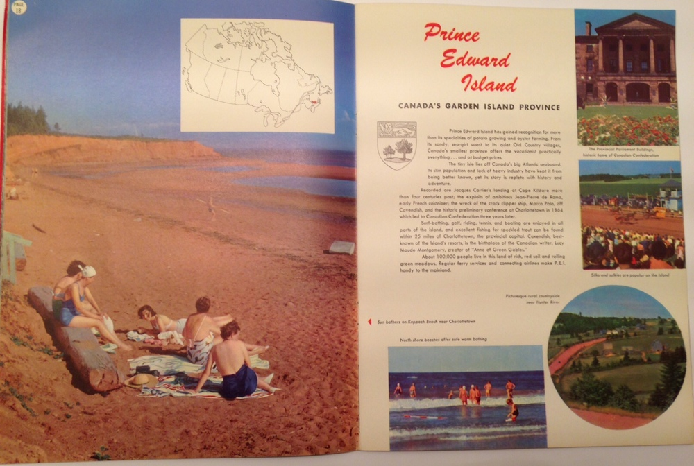 Two-page spread promoting Prince Edward Island
