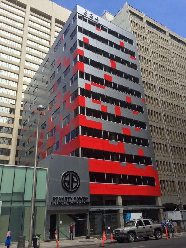 Everyday Tourist follower Sonny Tomic sent in this photo of a colourful new boutique office building in downtown Calgary.