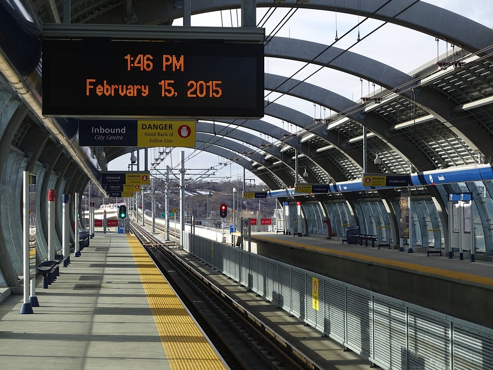 The Sunalta station is designed for hundreds not ten of thousands of transit riders.