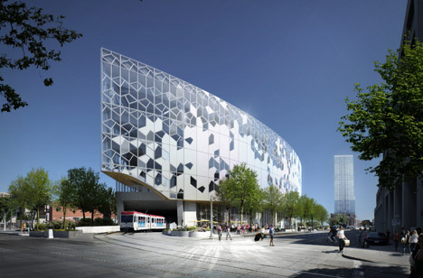 New downtown library is currently under construction.
