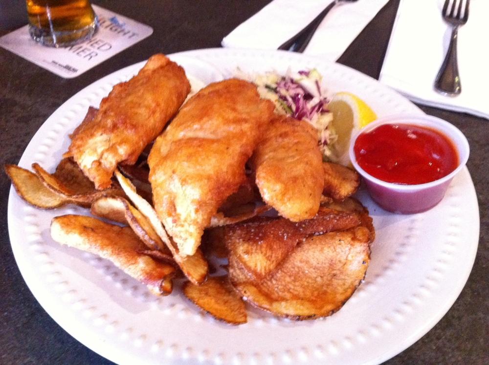 fish and chips Next Door Gastropub