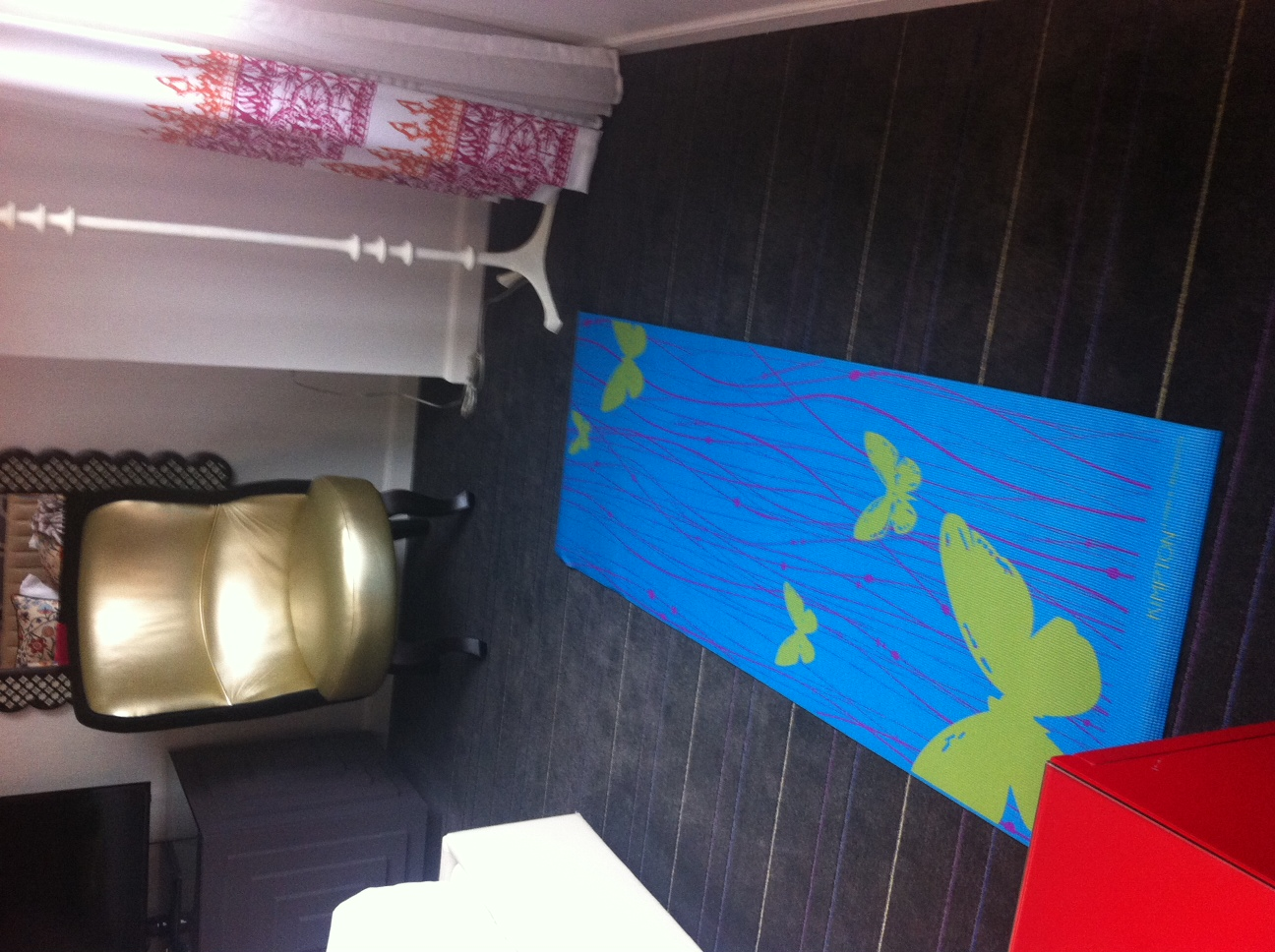 Hotel Monaco had the most colourful hotel rooms we have ever stayed in. The yoga mat was a nice touch.