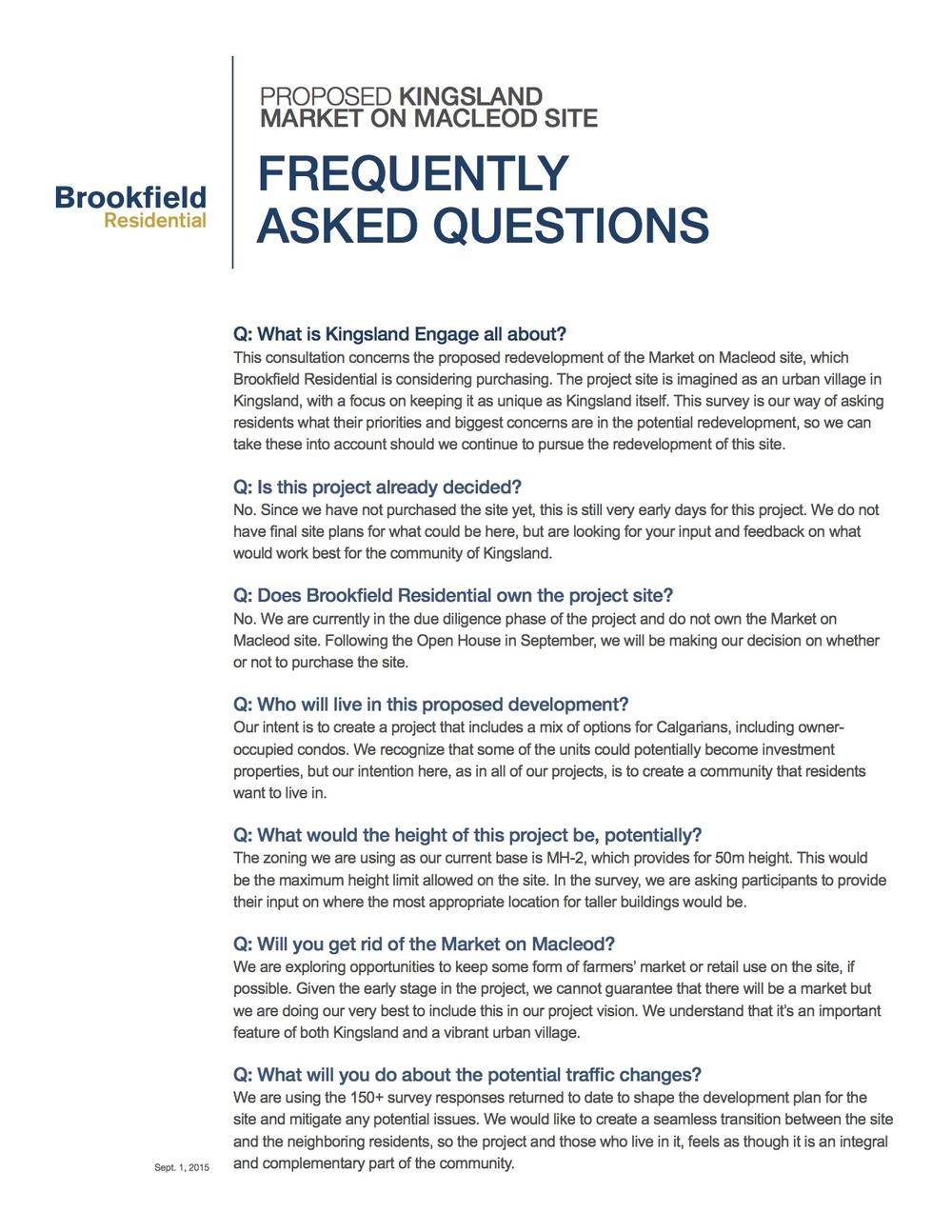 Kingsland Market FAQ