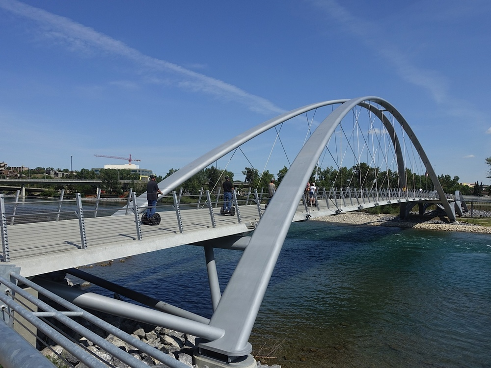St. Patrick's Island's new pedestrian bridge is quickly becoming a tourist attraction. The downtown Segway Tour includes a stop on the bridge.