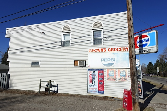 Browns's Grocery is located at 20th Ave and 11th St. NW.