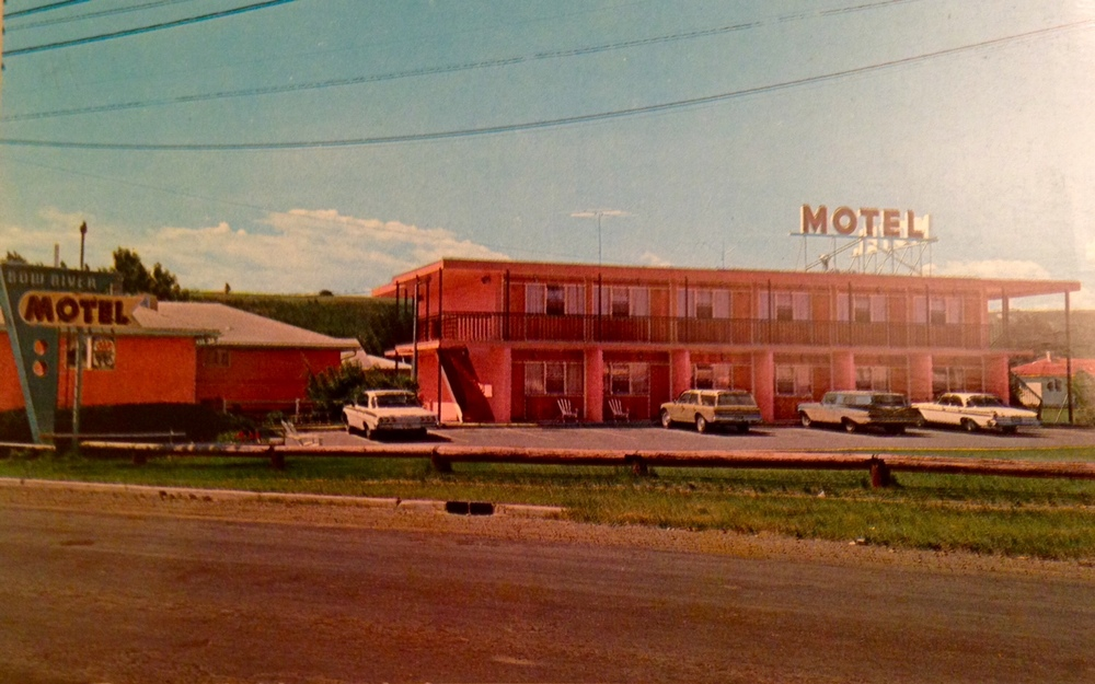 Bow River Motel, 103, 24th St. NW (aka Crowchild Trail). Note the road looks like it is still dirt and there are no trees or sidewalks. This was the edge of the city in the '50s.