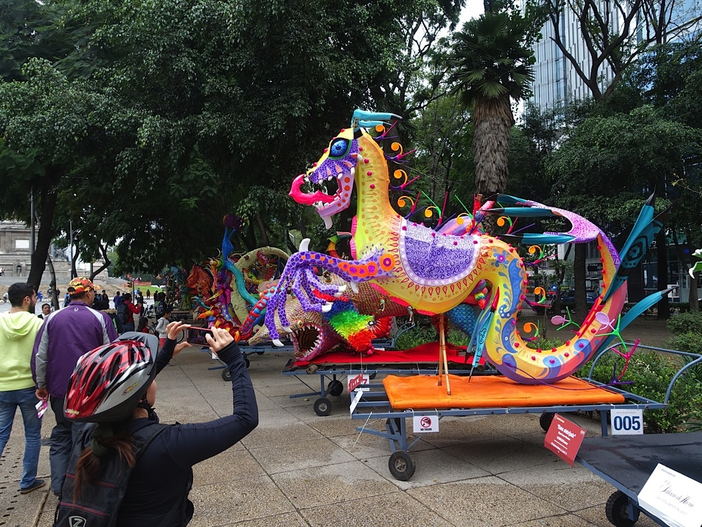 Everyone loves a parade, especially if there are fun, colourful and imaginative floats like these ones.  In this case the floats were stationary and the people paraded around them.