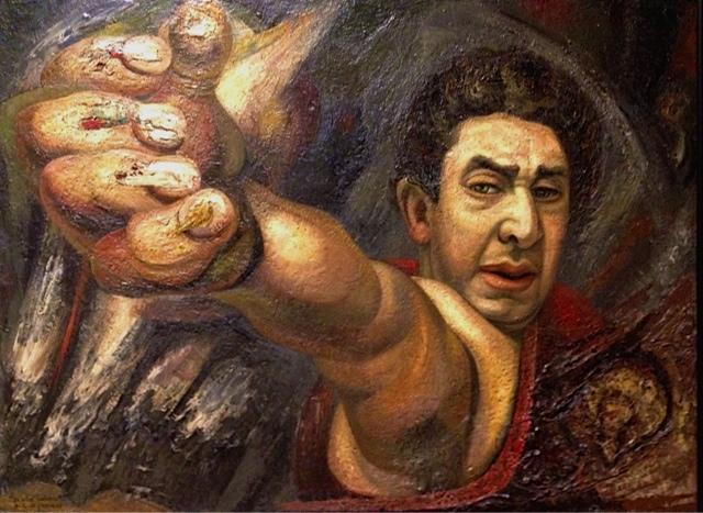 David Alfaro Siqueiros, Self Portrait, 1945 (Could he be taking a selfie?)