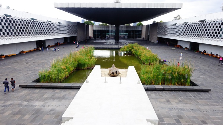 The museum's courtyard has a zen-like atmosphere.