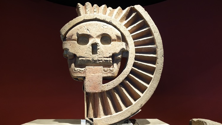 "When you see an artifact like this you quickly make the connection to the iconic skull-like face paintings of the ""Day of the Dead"" festival."