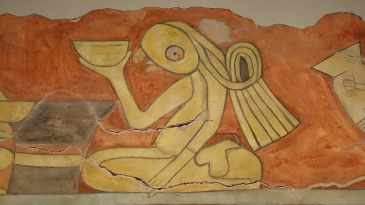 Found this one-eyed figure painted on a artifact and was stuck by how contemporary it was.