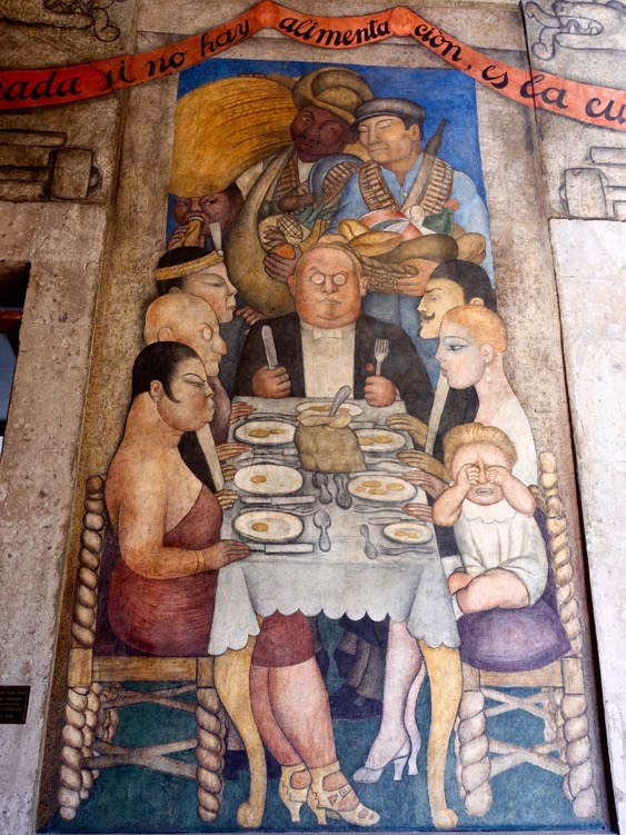 Capitalist Dinner, Diego Rivera