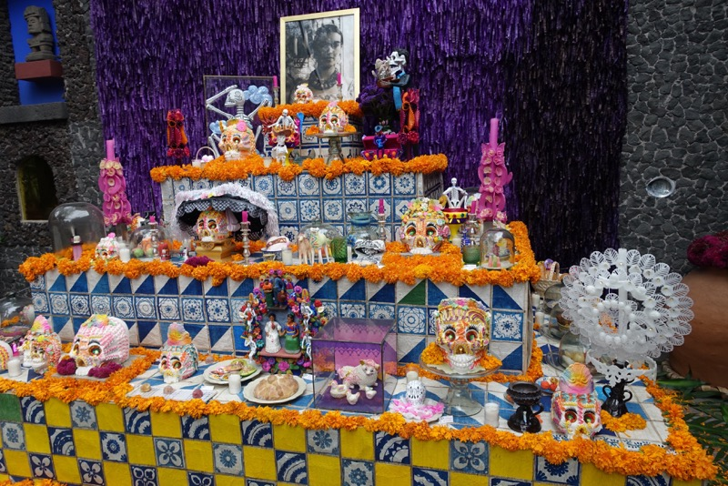 "Kahlo's Museum had the best ""Day of the Dead"" altar that we found in Mexico City."