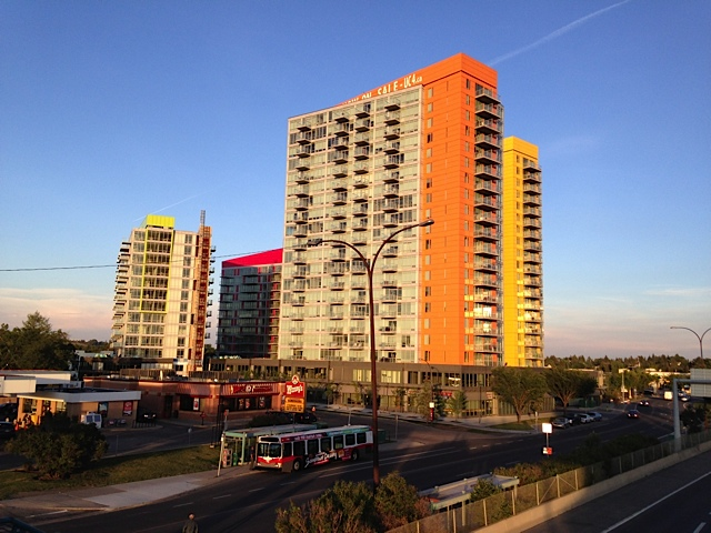 University City at Brentwood LRT Station is a just one Calgary's many transit oriented developments. Nearby is the University of Calgary, downtown is a short LRT ride and there are two grocery stores within walking distance.