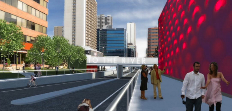 Computer rendering of what the 8th Street underpass will look like after renovations are completed in 2016.