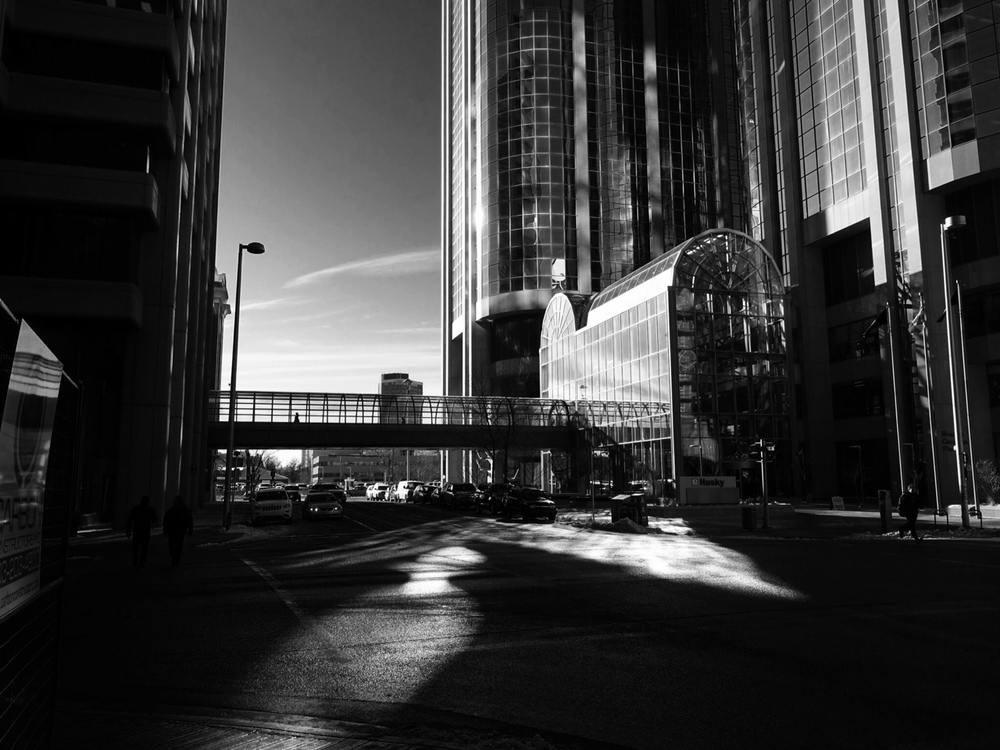 """Morning Shadows"" (downtown Calgary)"