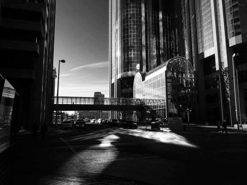 """Morning Shadows"" (downtown Calgary)"