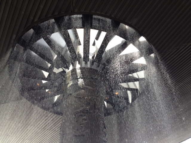 """""""Waterfall"""" (Anthropology Museum courtyard, Mexico City)"""