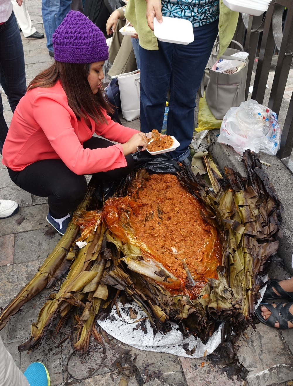 Lunch, Lady of Guadalupe Plaza, Mexico City