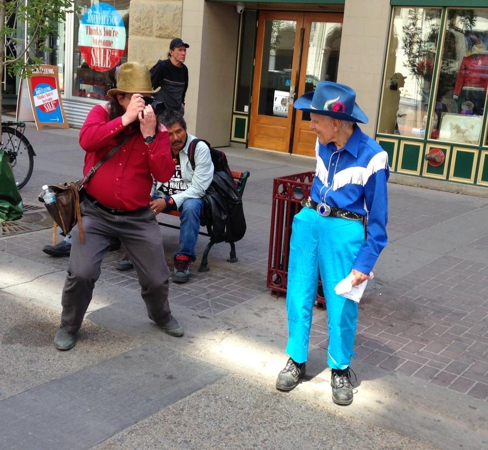 Stampede fun on Stephen Avenue, Calgary