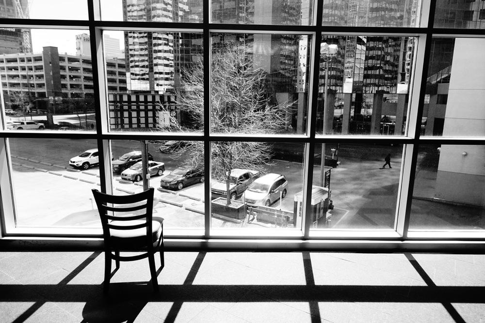 """Alone"" (+15 bridge, downtown Calgary)"
