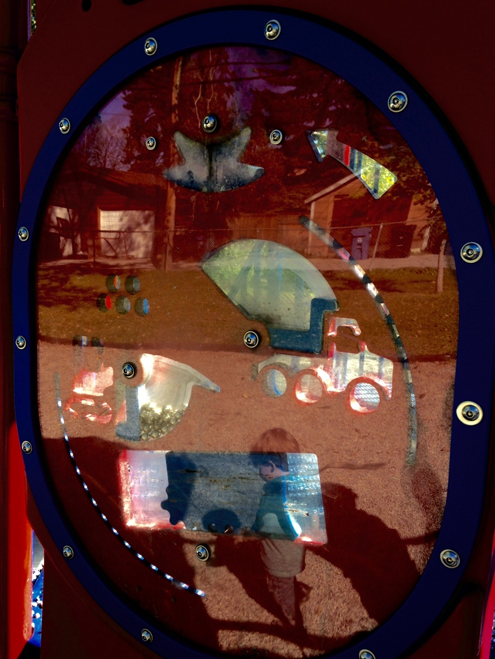 This colourful and complex collage of images is from a piece of playground equipment in the West Hillhurst in Calgary. I love it when I find images like this in unexpected places.