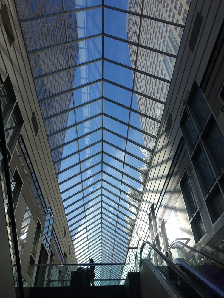"""Blue Skying"" (Bankers Hall, Calgary)"
