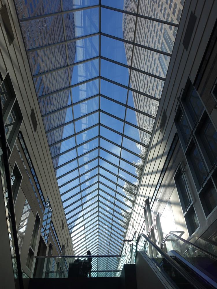 """""""Blue Skying"""" (Bankers Hall, Calgary)"""