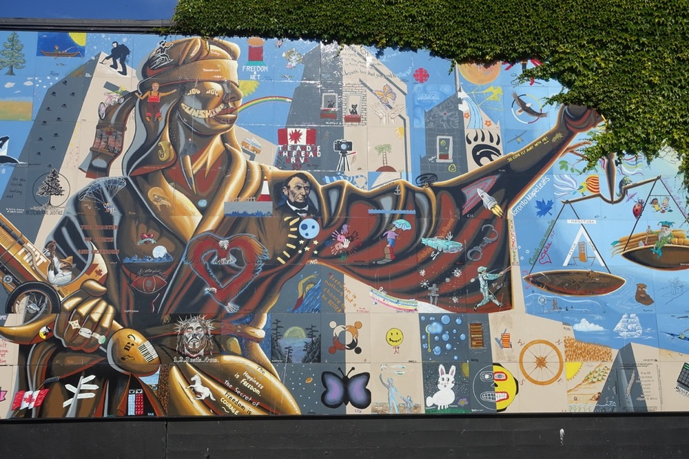 Street art in Victoria, BC.