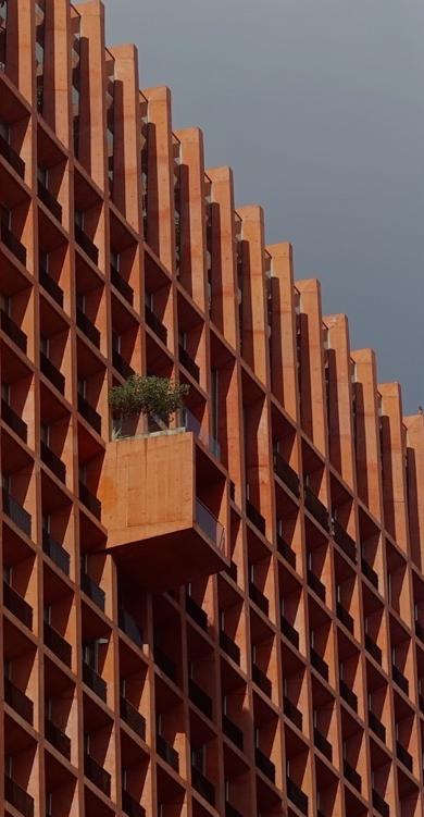 Balcony (condo on Paseo de la Reforma, Mexico City)