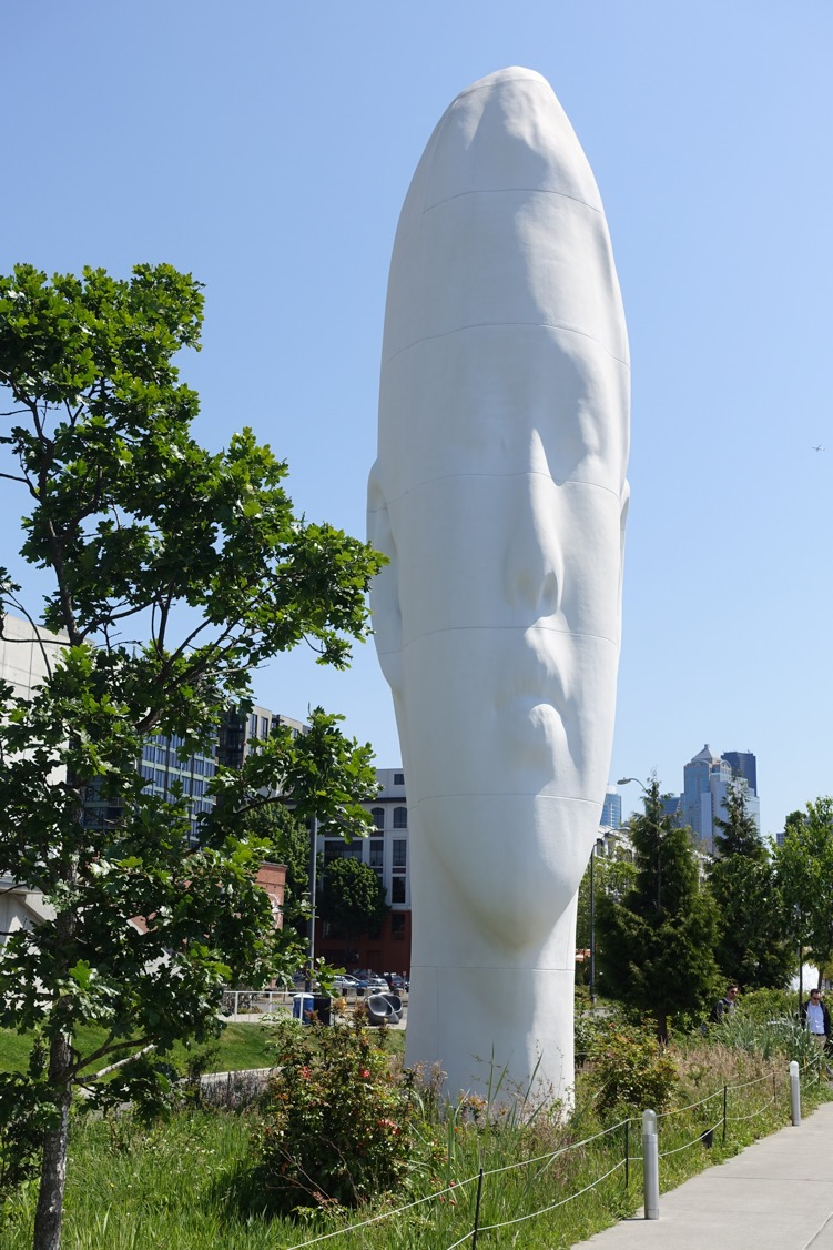 """Echo"" 46 foot sculpture by Jaume Plensa  (Olympic Sculpture Park, Seattle)"