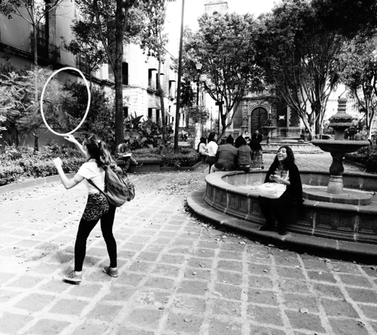 """""""Laughter"""" (church courtyard, Mexico City)"""