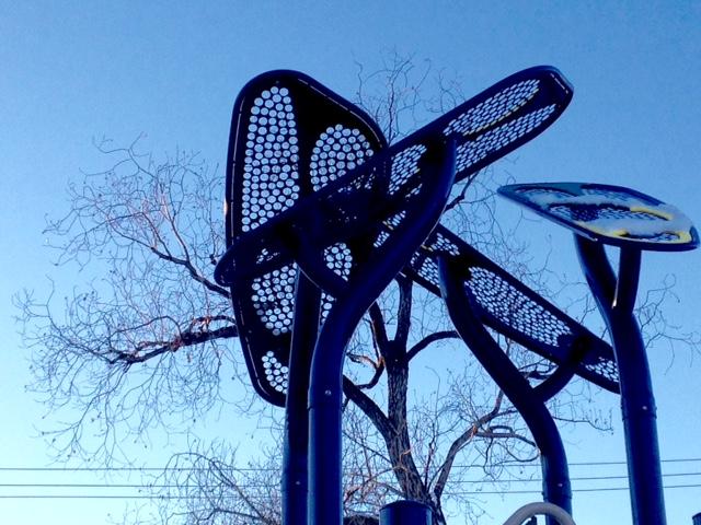 Interplay: Sky, Tree & Playground, Riley Park, Calgary