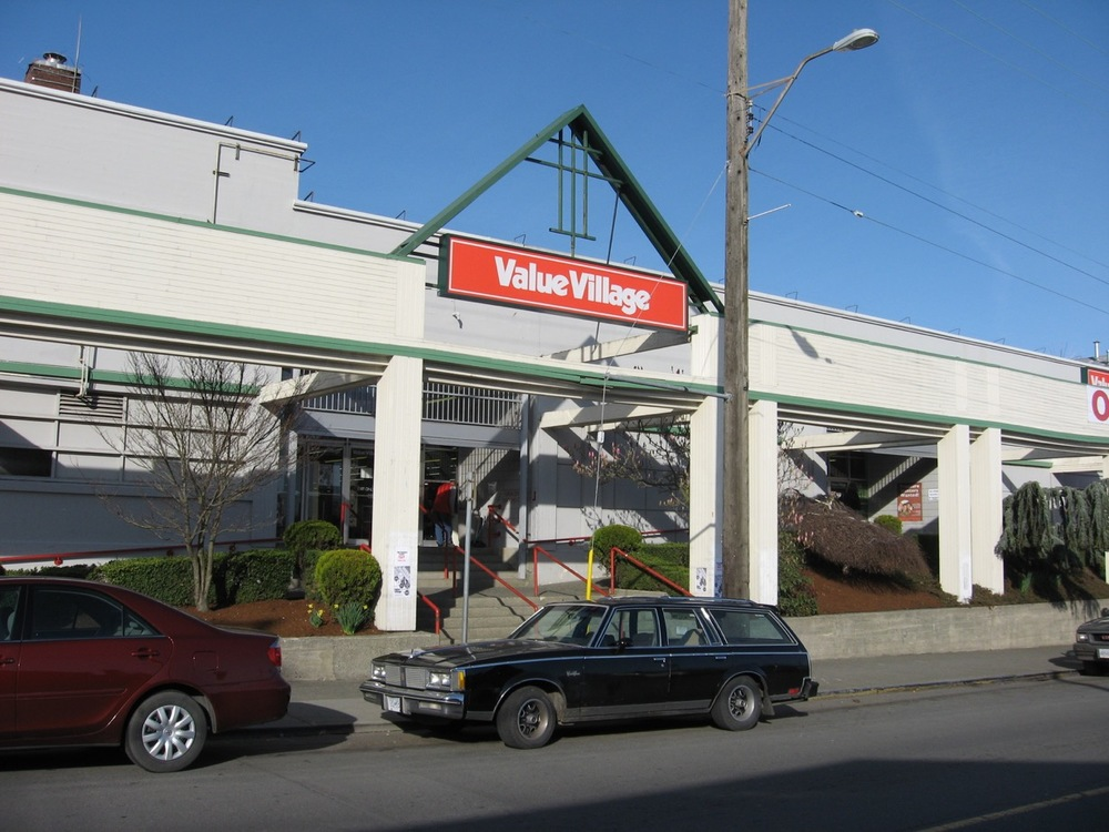 Value Village, the motherlode of thrift stores, in Victoria, BC