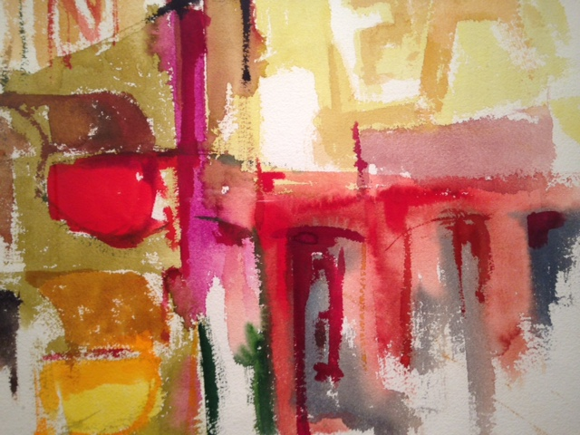 """Abstraction by R. Sylvester was purchased at Super Chance, nicely framed and matted. (29"""" x 20"""" framed) $90.00"""