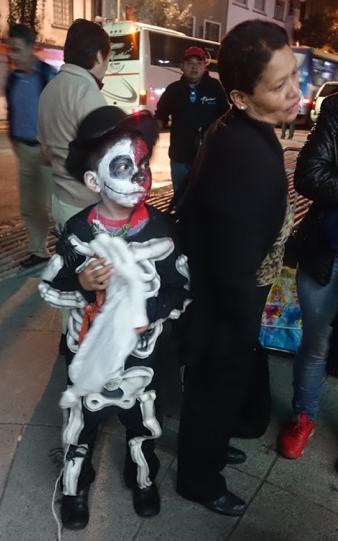 Skeleton Boy, Mexico City