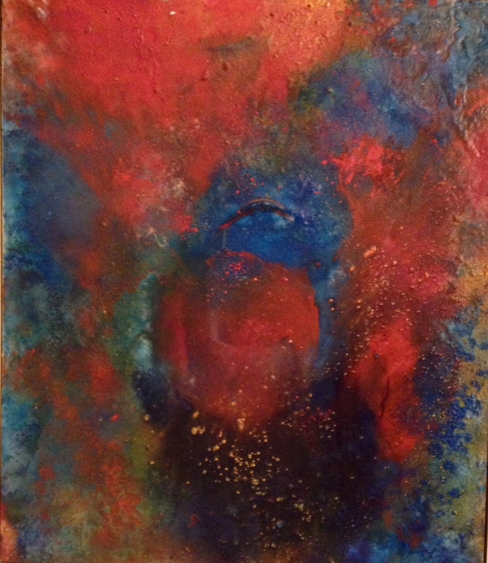 """Untitled, Kimball, 1962,purchased at Kilshaw's Auctioneers for $10, (29"""" x 25"""" framed canvas)"""