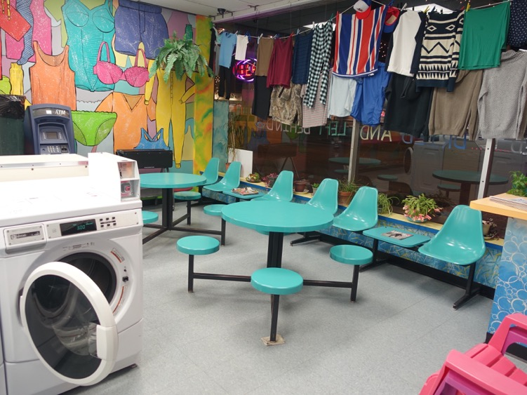 Ashley: I think this fun, funky, quirkly Elmwood Laundry would be fun for you and Knox to check out..R