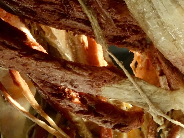 Close up image of the incredible intricacies of the human body. It will be a long time before we forget this exhibition. Yes in some ways human flesh does look like bacon.