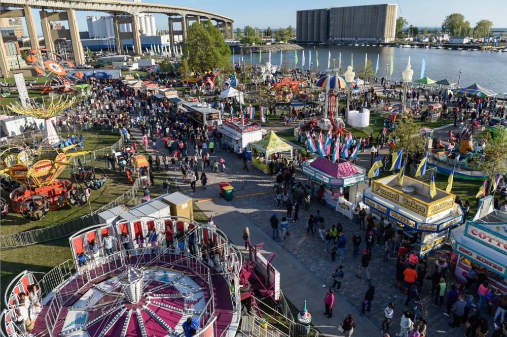 Canalside Carnival...looks a lot like Calgary's East Village and potentially West Village (photo credit: Joe Cascio)
